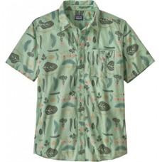 Camisa Manga Corta Patagonia Men's Go To Shirt Gypsum Green